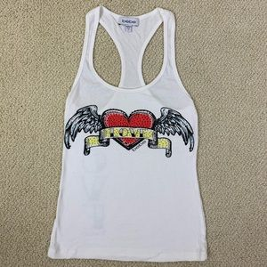 Awesome BEBE racerback tank top size Small